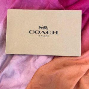 Coach Ombré Scarf Pink, Light  Pink & Orange